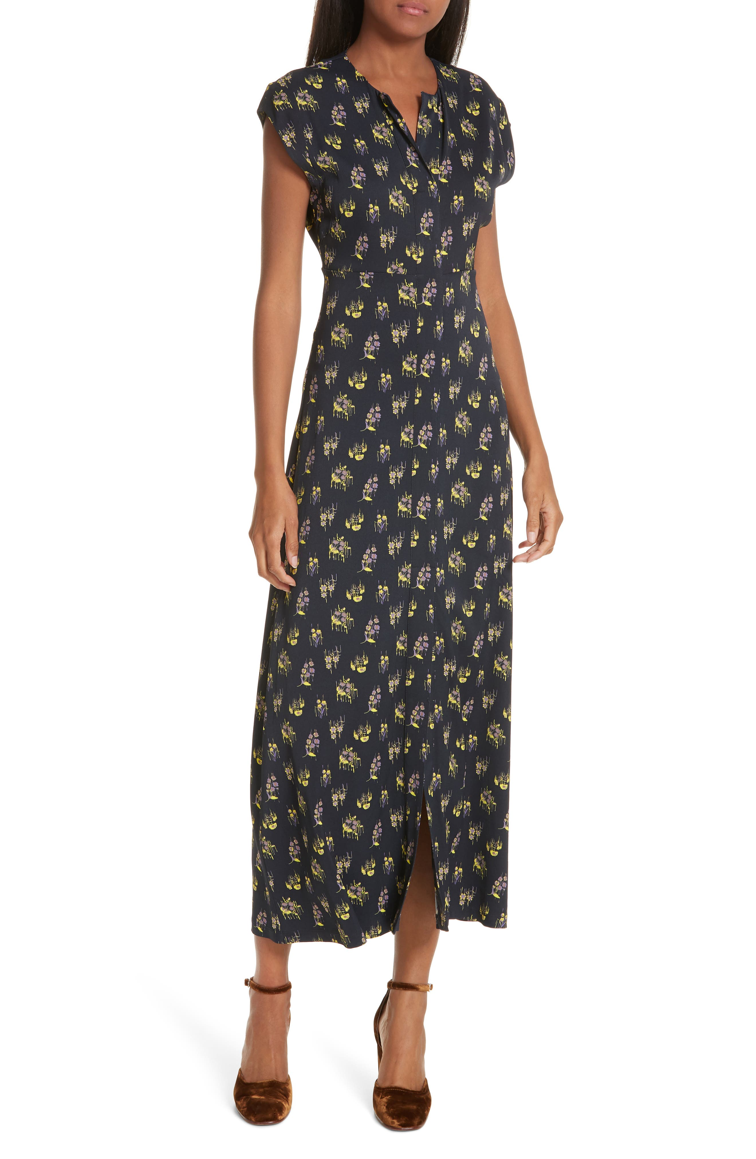 Rachel Comey Chrysanthemum Print Dress, Black