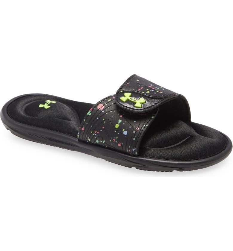 UNDER ARMOUR Under Amour Kids' Ignite VI Slide Sandal, Main, color, BLACK