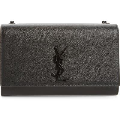 Saint Laurent Medium Monogram Leather Crossbody Bag -