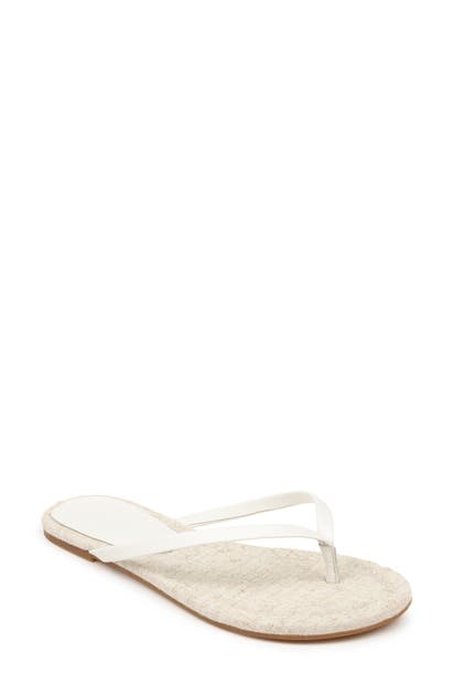 Splendid Ashlee Flip Flop In White Leather