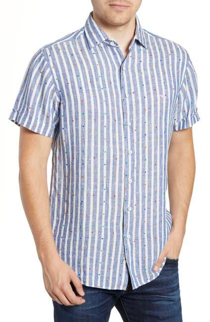 Image of RODD AND GUNN Ferntown Regular Fit Stripe Shirt