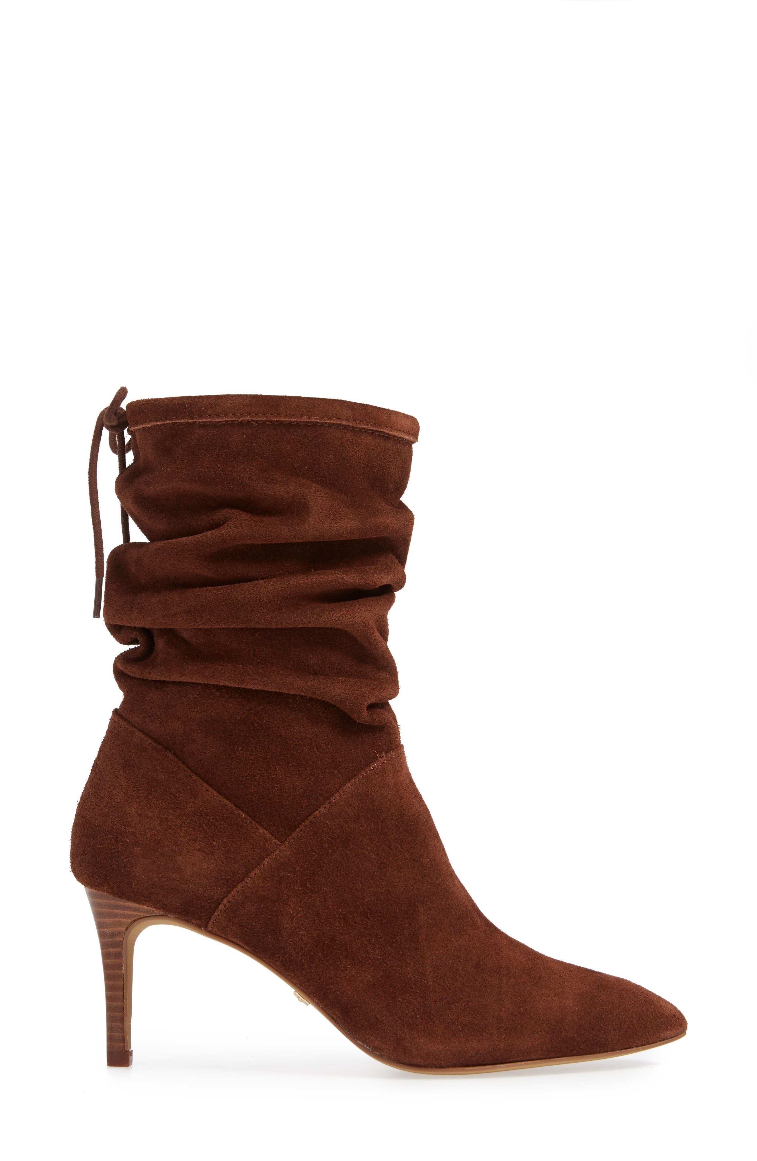 ,                             Natthan Slouchy Bootie,                             Alternate thumbnail 3, color,                             WALNUT SUEDE
