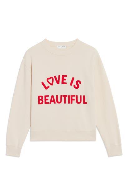 Sandro LOVE IS BEAUTIFUL EMBROIDERED SWEATSHIRT