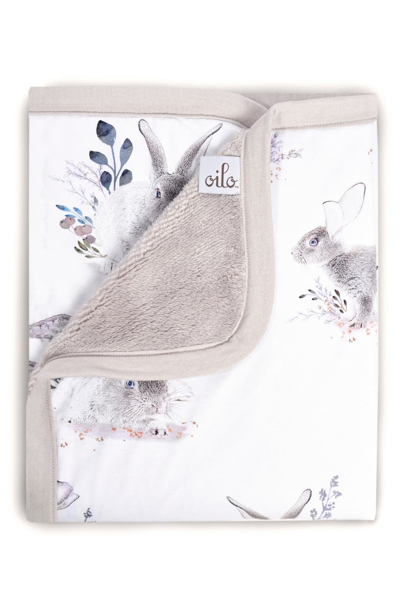 OILO Cottontail Jersey Cuddle Blanket, Main, color, STONE