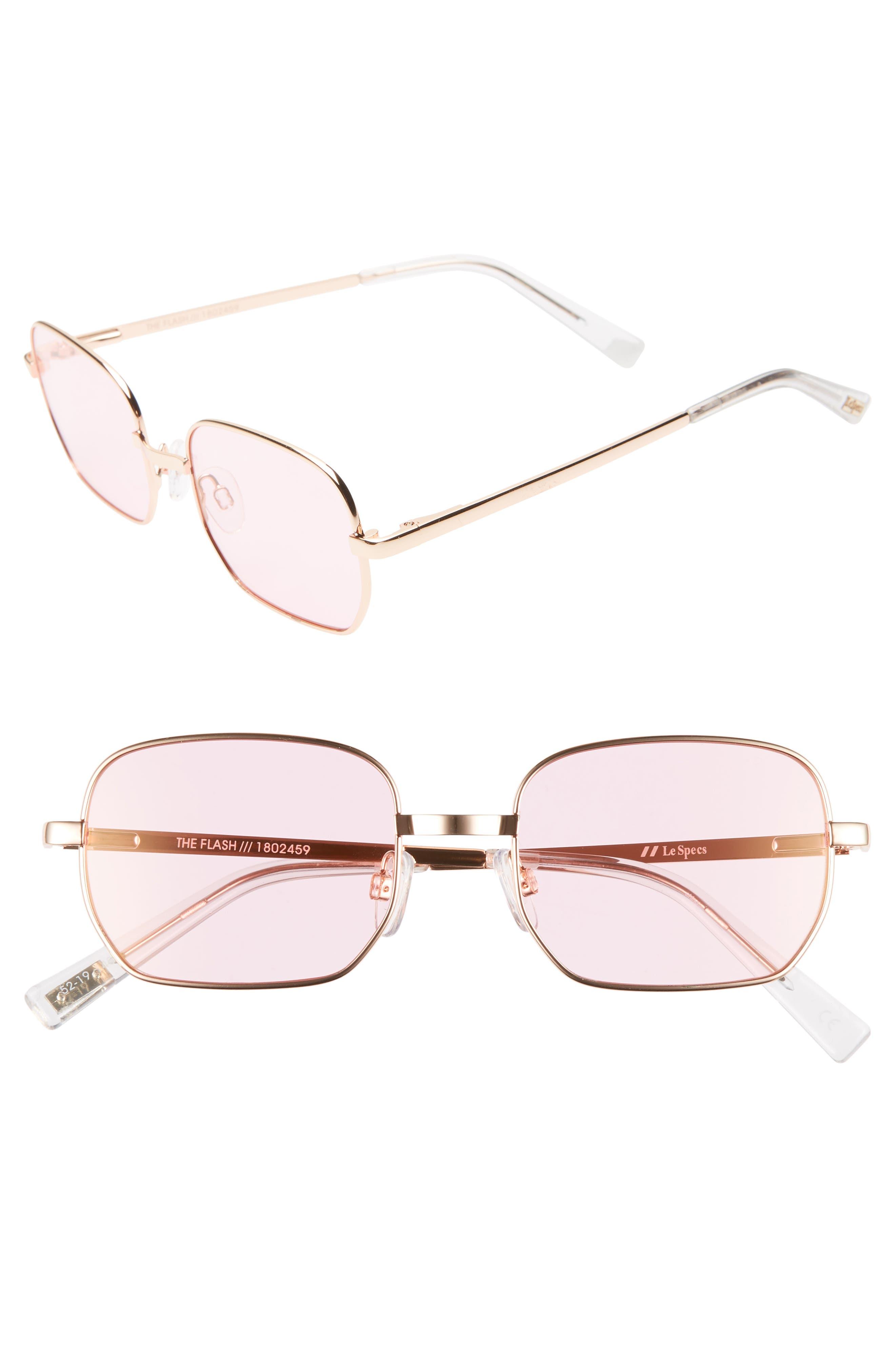 Le Specs The Flash 52Mm Round Sunglasses - Bright Gold