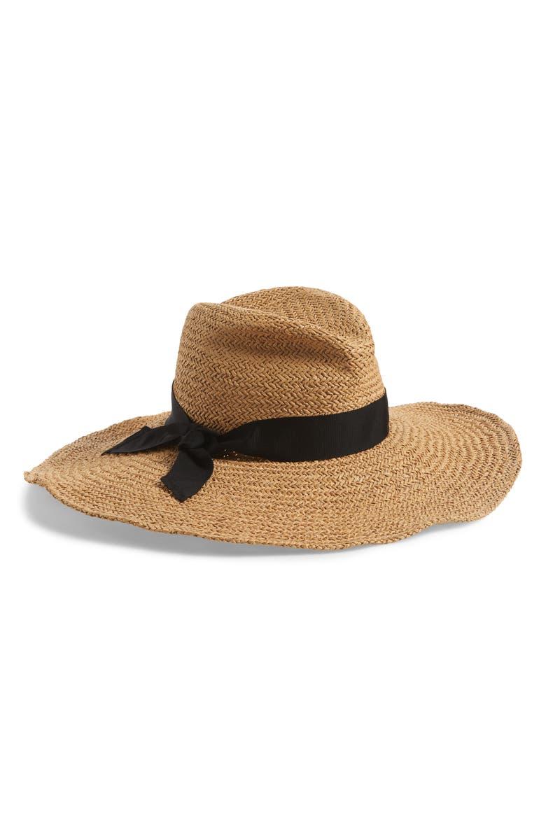 LOLA HATS Gum Wad Straw Hat, Main, color, SAND/ BLACK