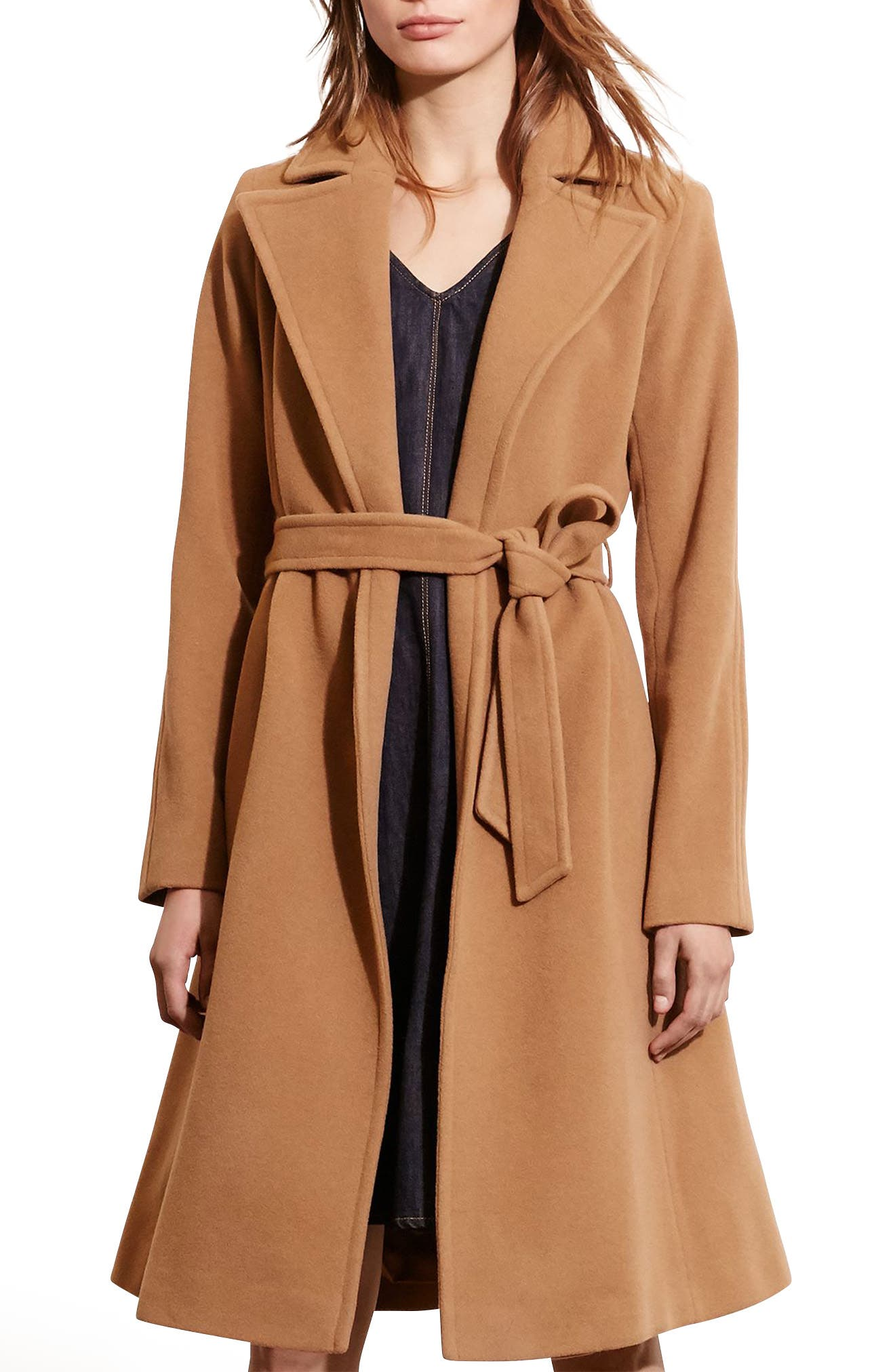,                             Wool Blend Wrap Coat,                             Main thumbnail 6, color,                             257