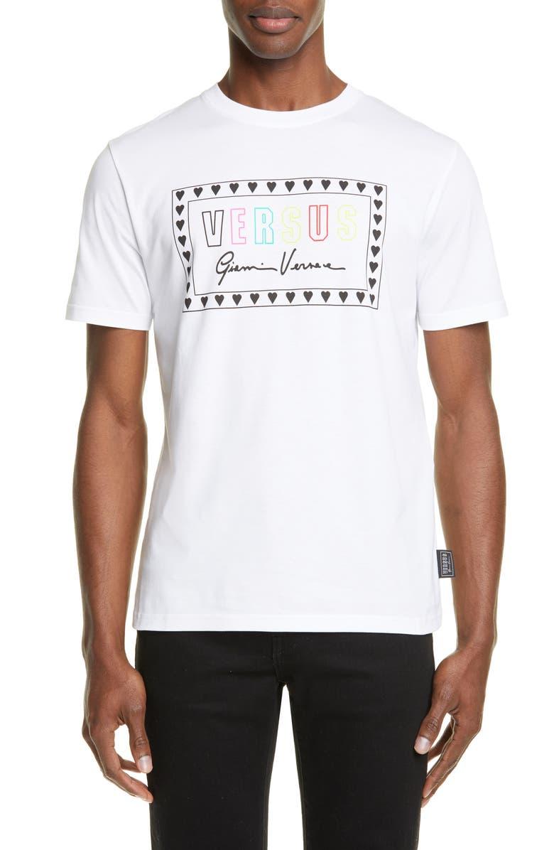 VERSUS VERSACE Logo T-Shirt, Main, color, 100