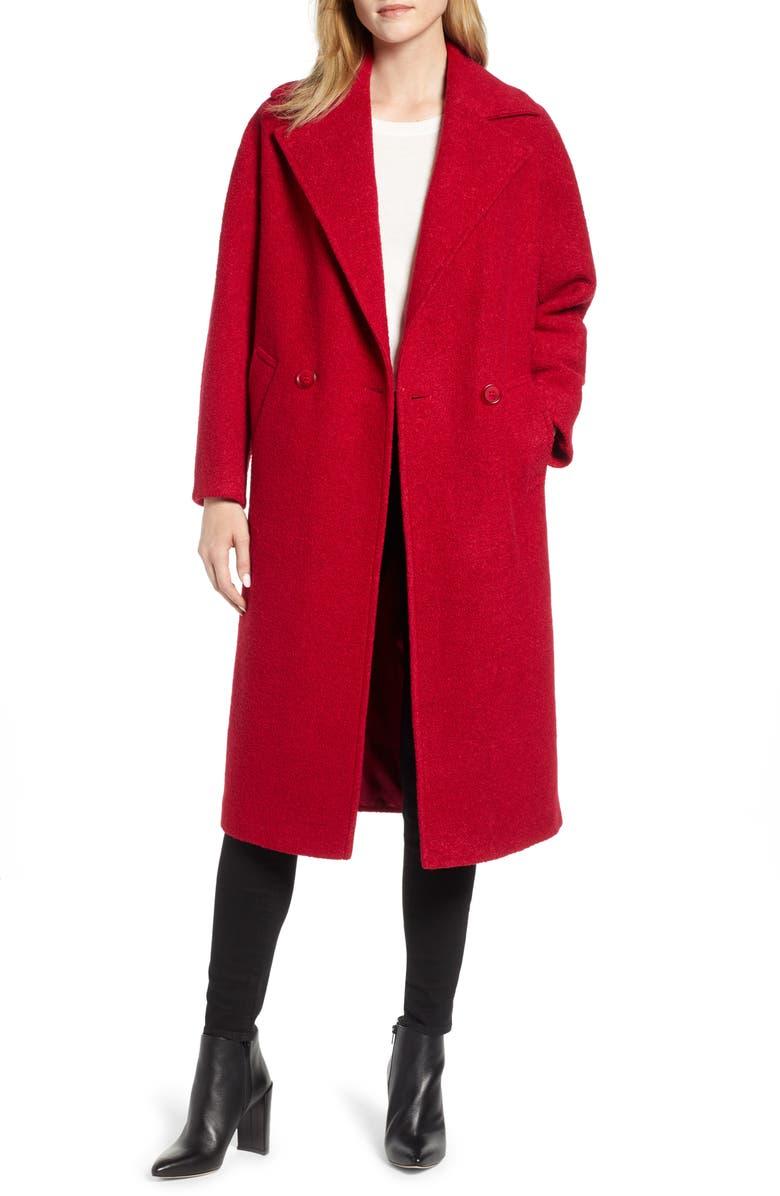 HELENE BERMAN Oversize Coat, Main, color, 600