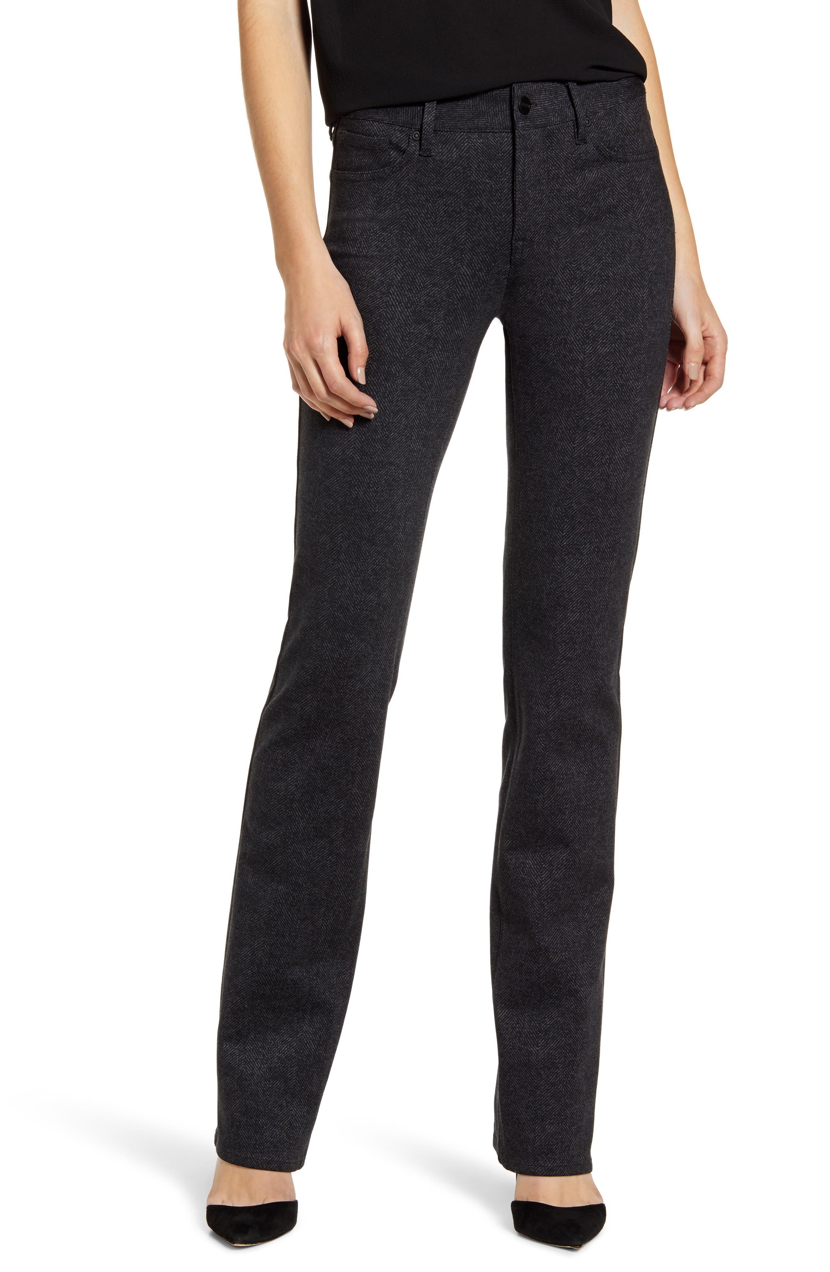 NYDJ Marilyn Straight Leg Herringbone Pants (Regular & Petite)