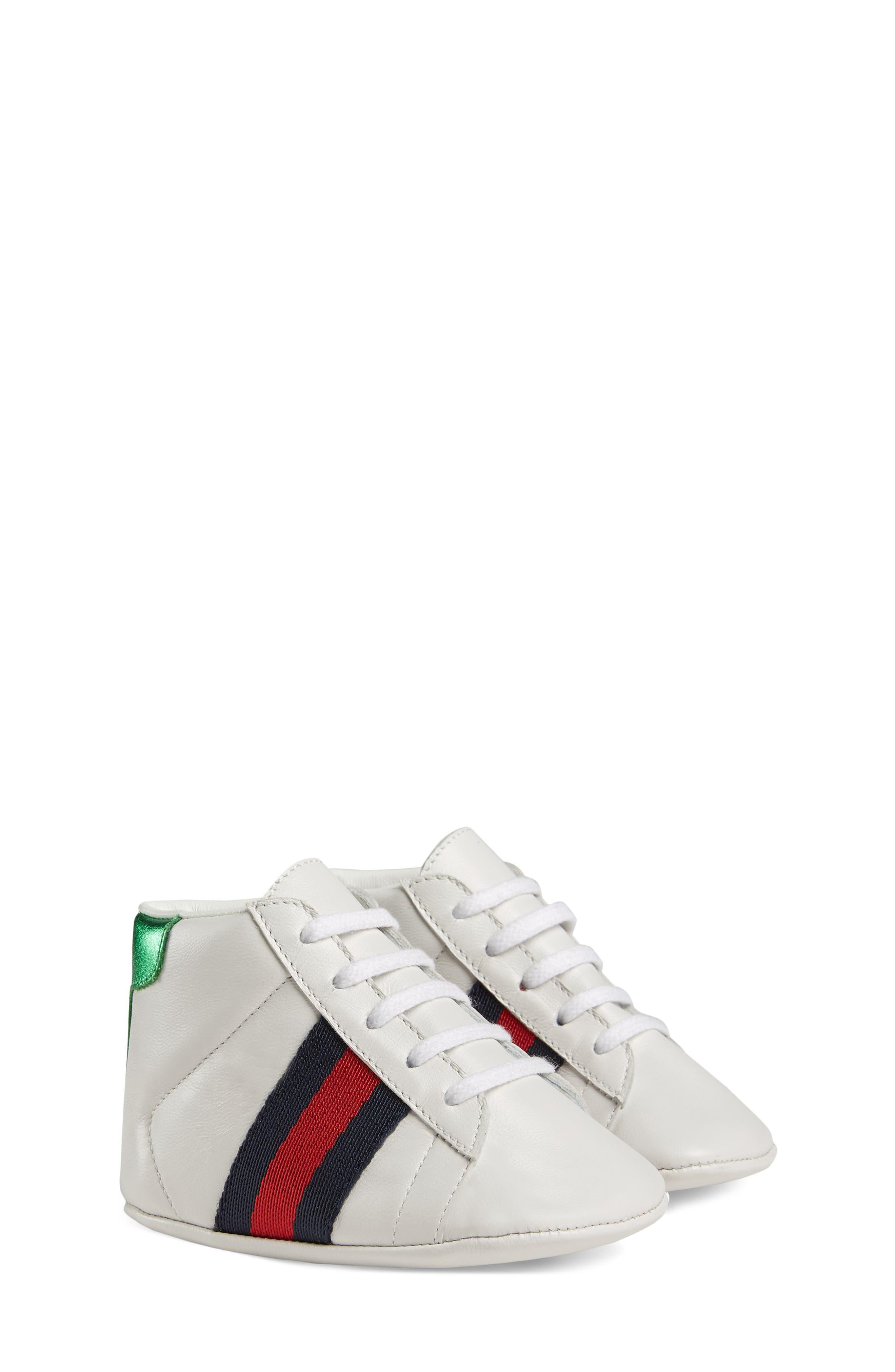 ,                             New Ace Crib Shoe,                             Main thumbnail 1, color,                             WHITE