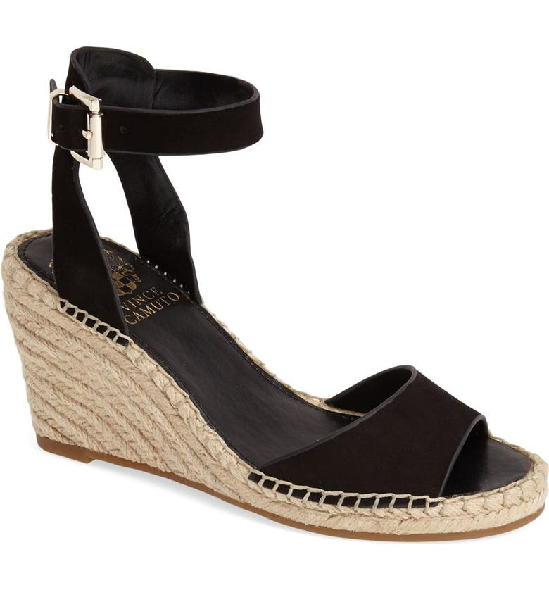 VINCE CAMUTO 'Tagger' Espadrille Wedge Sandal, Main, color, 001