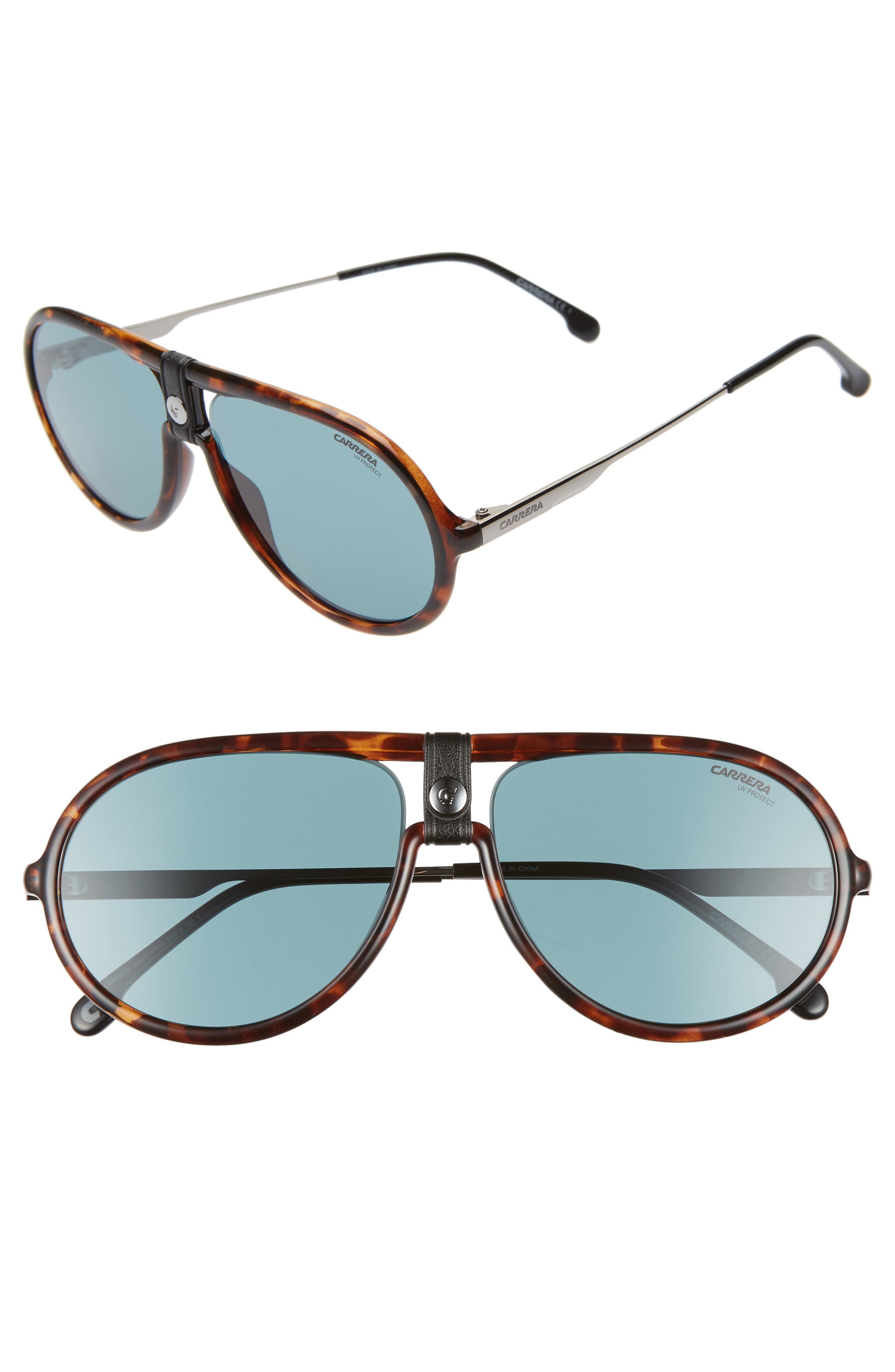 Carrera Eyewear 60Mm Polarized Aviator Sunglasses - Dark Havana