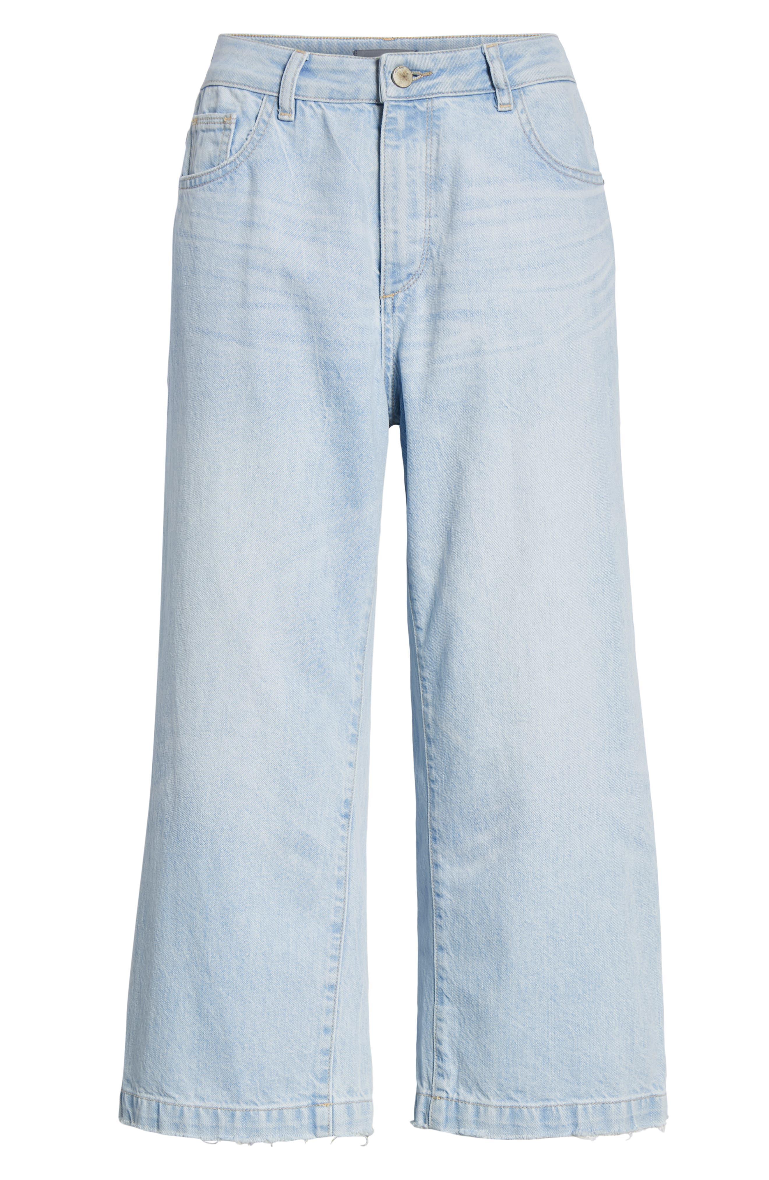 ,                             Hepburn High Waist Crop Wide Leg Jeans,                             Alternate thumbnail 7, color,                             429