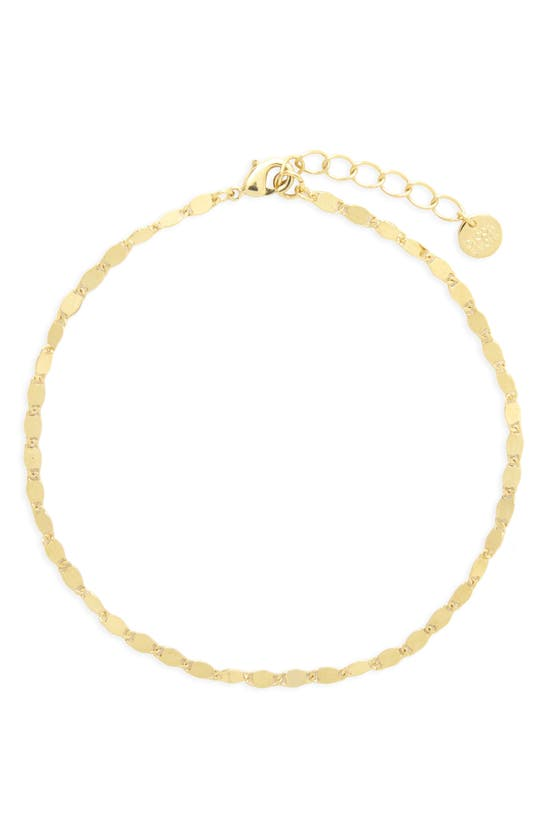 Brook & York Carly Chain Anklet In Gold