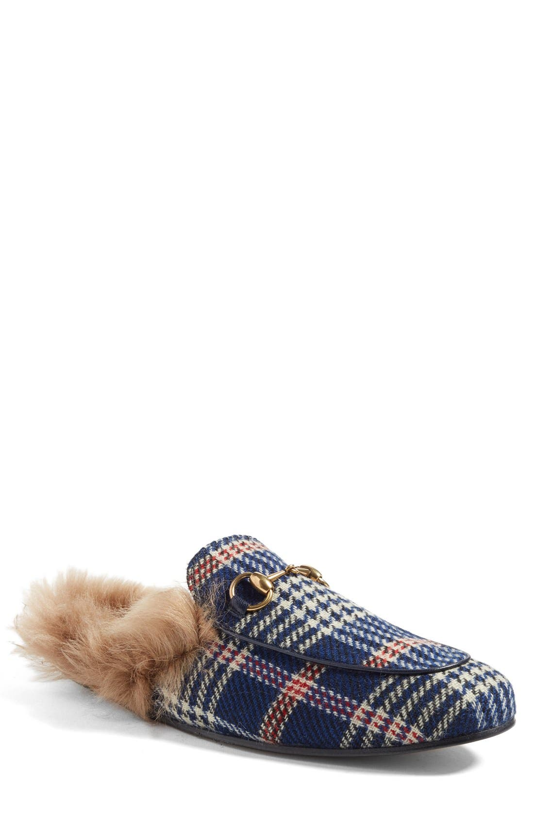 ,                             Princetown Genuine Shearling Lined Mule Loafer,                             Main thumbnail 61, color,                             493