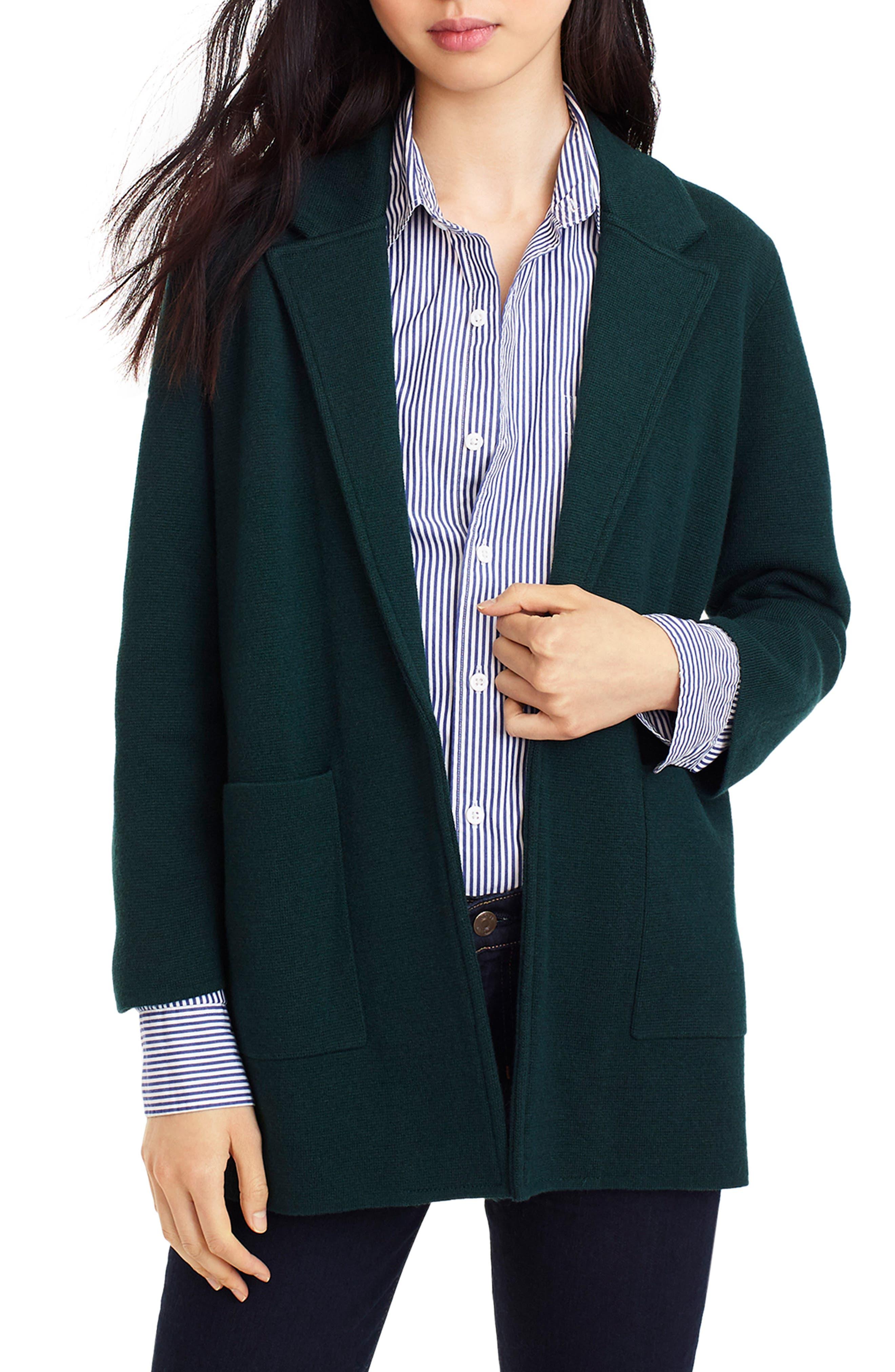 J.Crew New Lightweight Sweater Blazer (Regular & Plus Size)