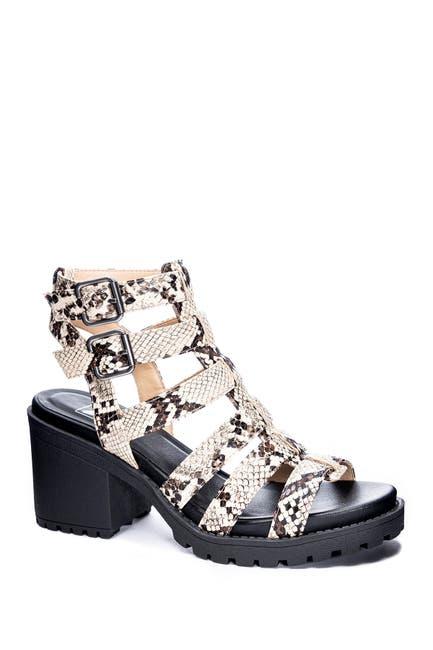 Image of Dirty Laundry Finnegan Snakeskin Printed Block Heel Sandal
