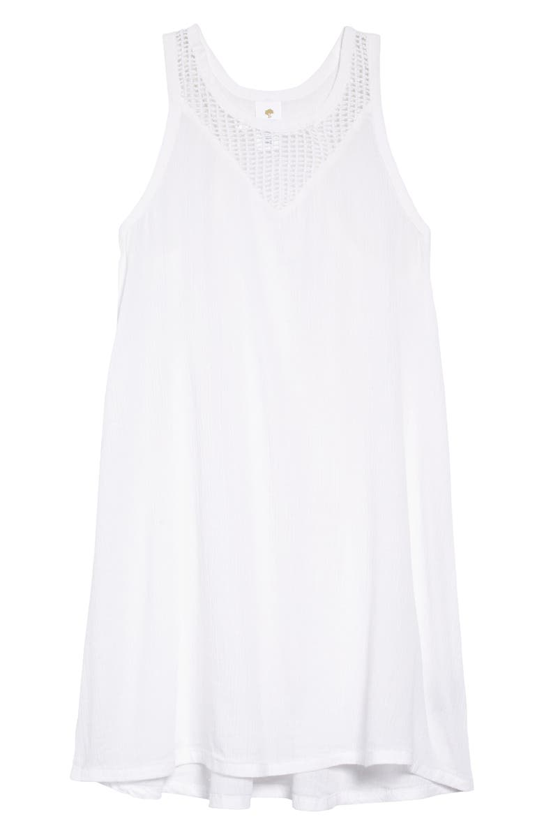 TUCKER + TATE Cover-Up Dress, Main, color, WHITE