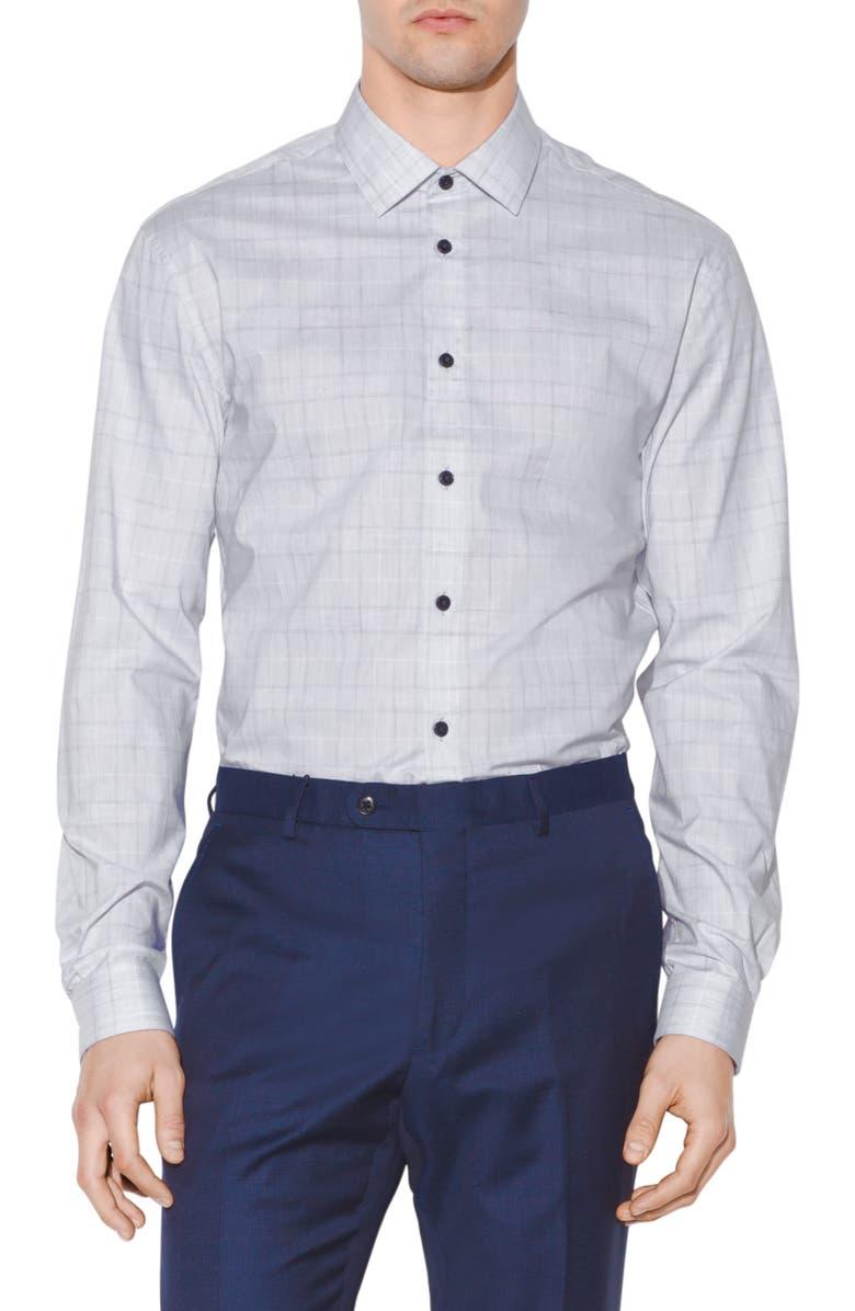JOHN VARVATOS STAR USA Slim Fit Plaid Dress Shirt, Main, color, 039