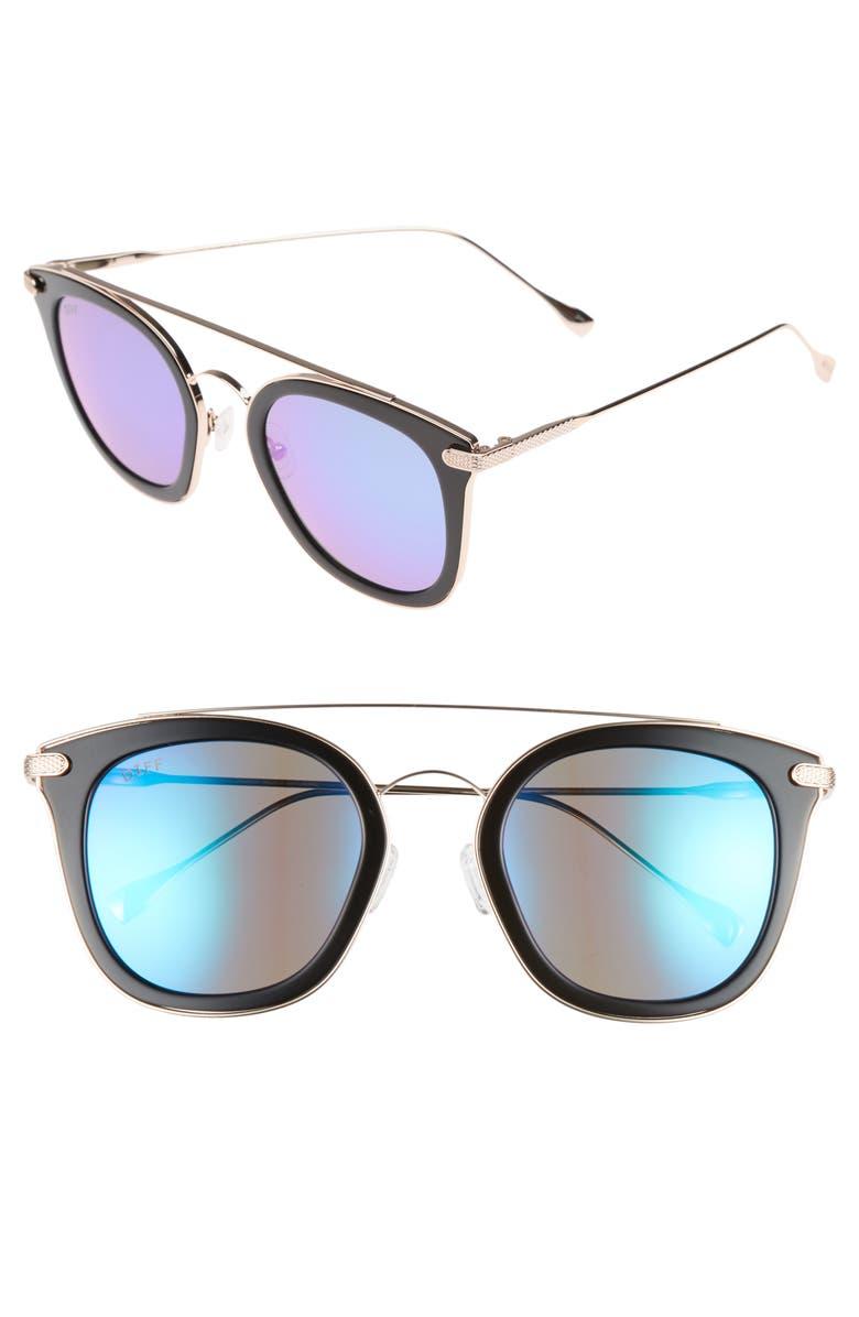 DIFF Zoey 51mm Polarized Sunglasses, Main, color, 001