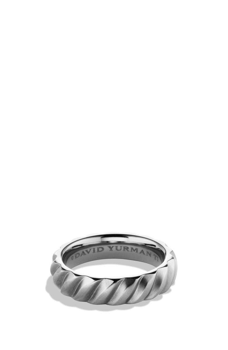DAVID YURMAN Cable Band Ring in Titanium, Main, color, TITANIUM