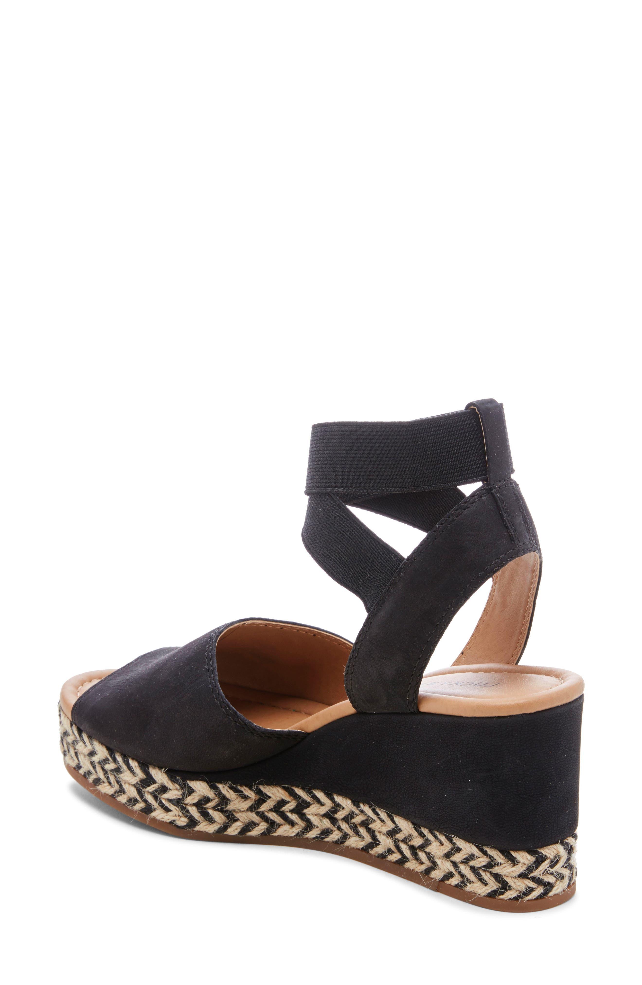 ,                             Bettanie Espadrille Wedge Sandal,                             Alternate thumbnail 2, color,                             BLACK LEATHER