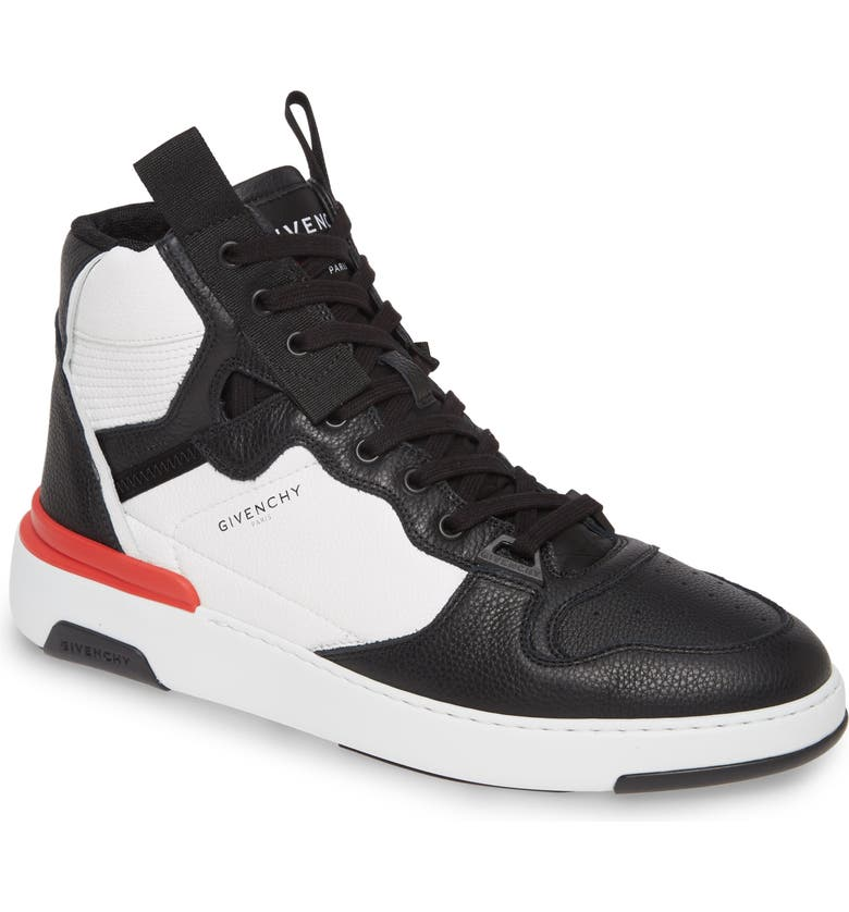 GIVENCHY High-Top Sneaker, Main, color, BLACK/WHITE