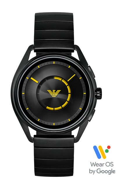 Image of Emporio Armani Men's Raven Stainless Steel Smartwatch, 43mm