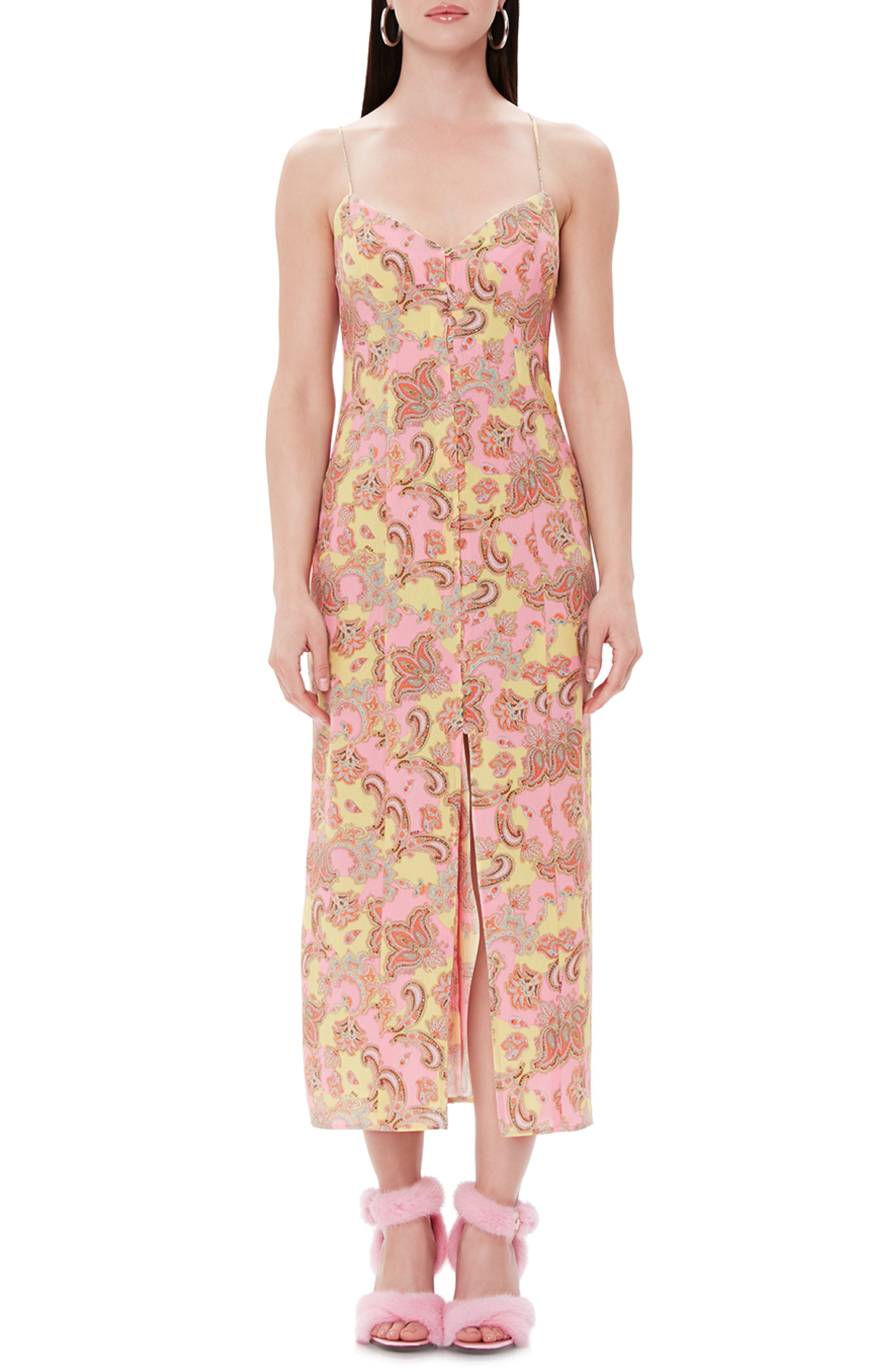 Afrm Emili Midi Dress, Pink
