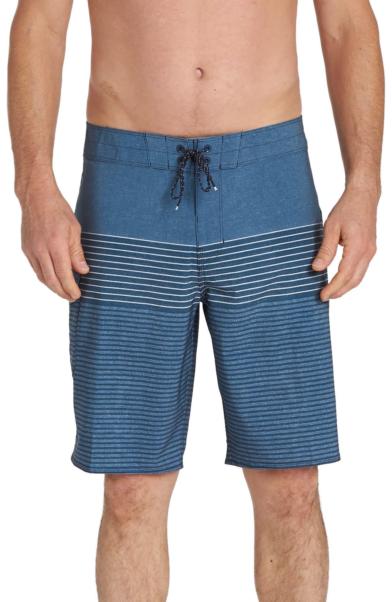 Billabong All Day Stripe Pro Board Shorts, Blue
