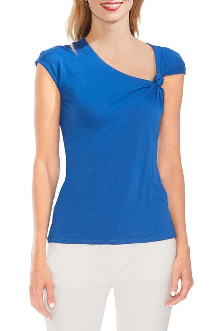 Image of Vince Camuto Twist Neck Asymmetrical Top