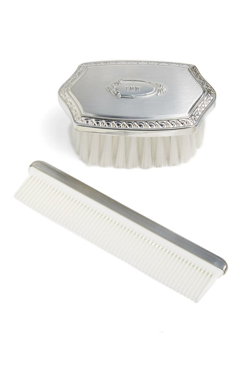 SALISBURY PEWTER Personalized Brush & Comb Set, Main, color, NONE