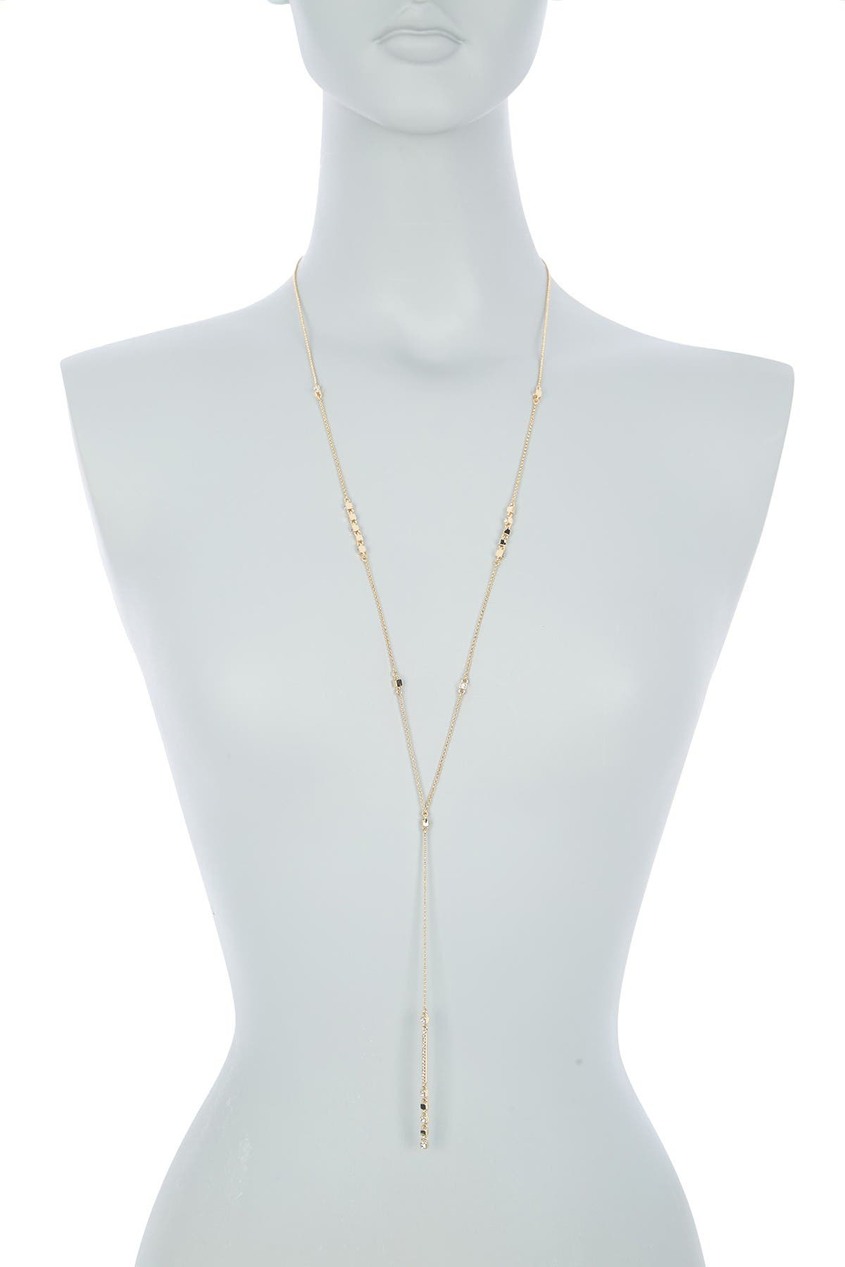 Image of DKNY Crystal Square Station Long Y-Necklace