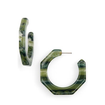 Madewell Resin Octagonal Hoop Earrings