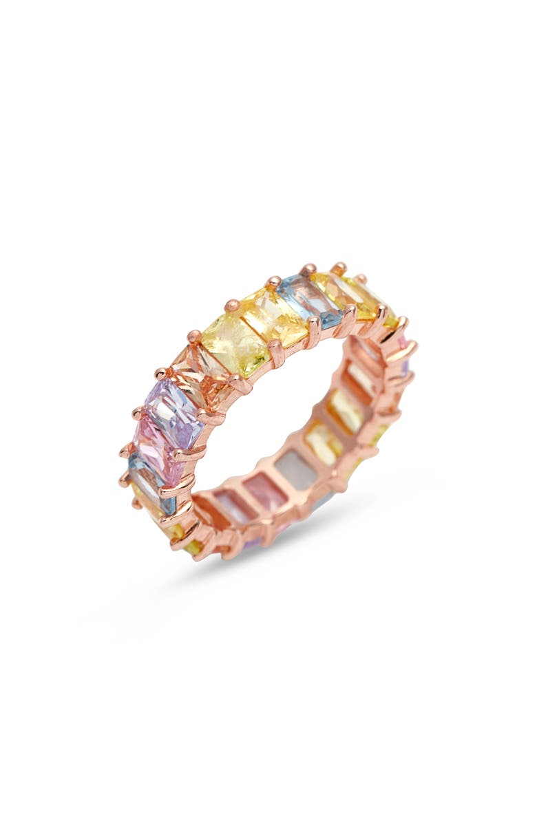 ADINA'S JEWELS Adina's Jewels Pastel Rainbow Ring, Main, color, MULTI-COLOR