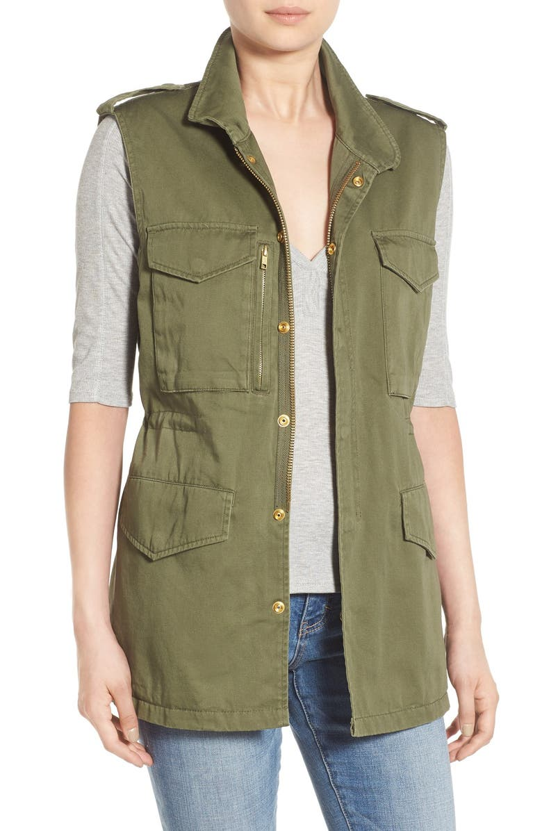 THREAD & SUPPLY Utility Vest, Main, color, OLIVE