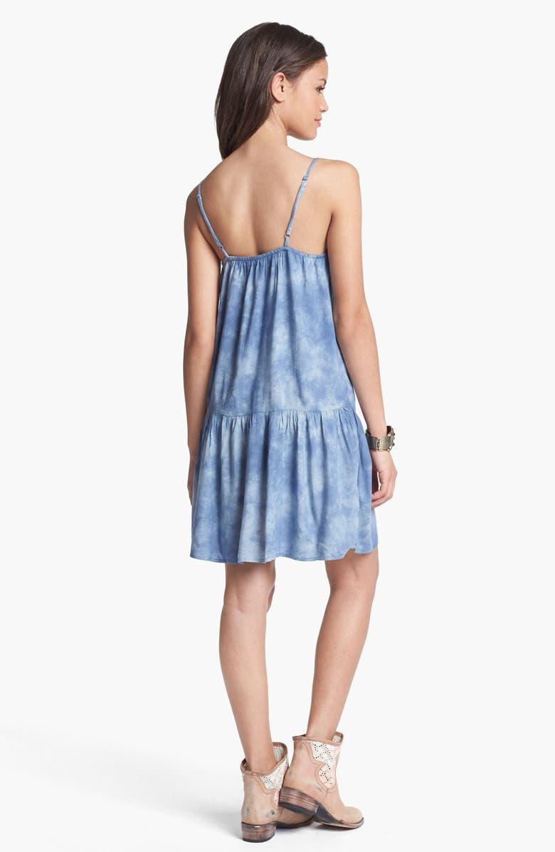LOVE, FIRE Fire Drop Waist Dress, Main, color, 401