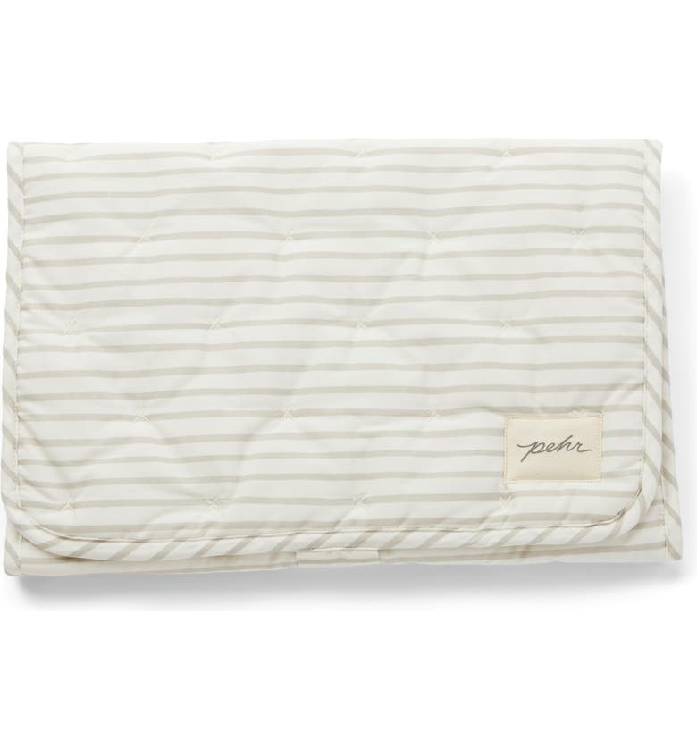 PEHR On the Go Coated Organic Cotton Changing Pad, Main, color, PEBBLE