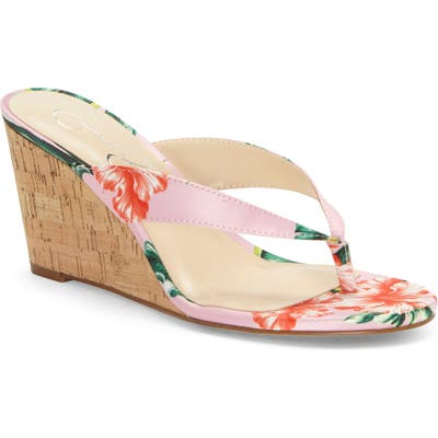 Jessica Simpson Coyrie Wedge Flip Flop, Pink