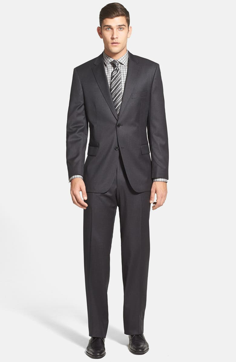 BOSS 'Pasolini/Movie' Classic Fit Charcoal Wool Suit, Main, color, CHC