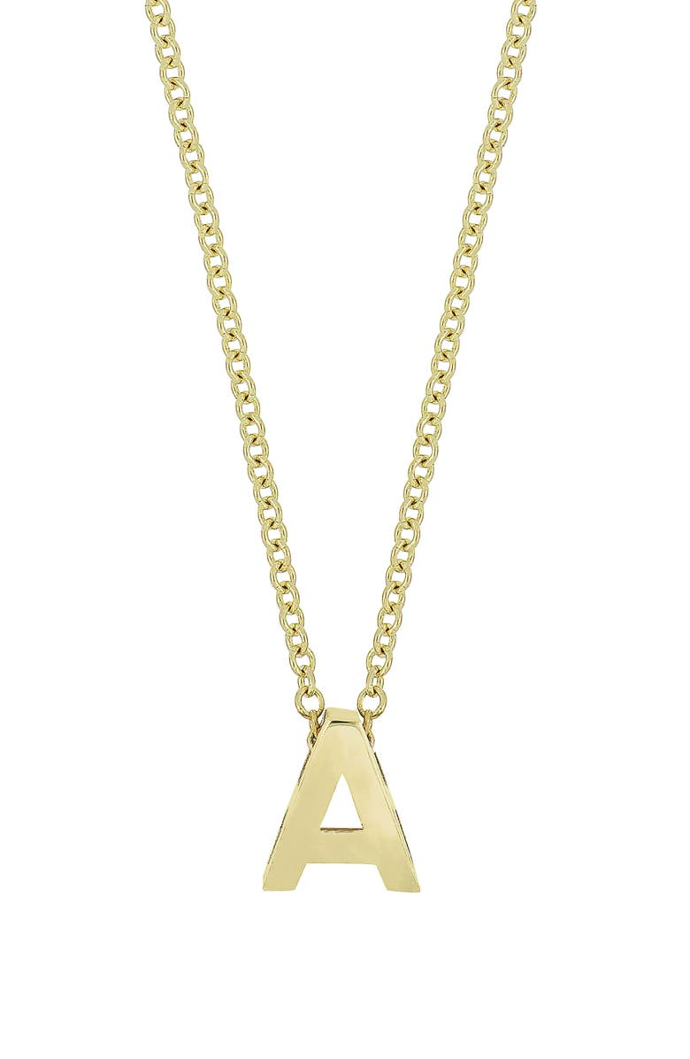 BONY LEVY Initial Pendant Necklace, Main, color, YELLOW GOLD- A