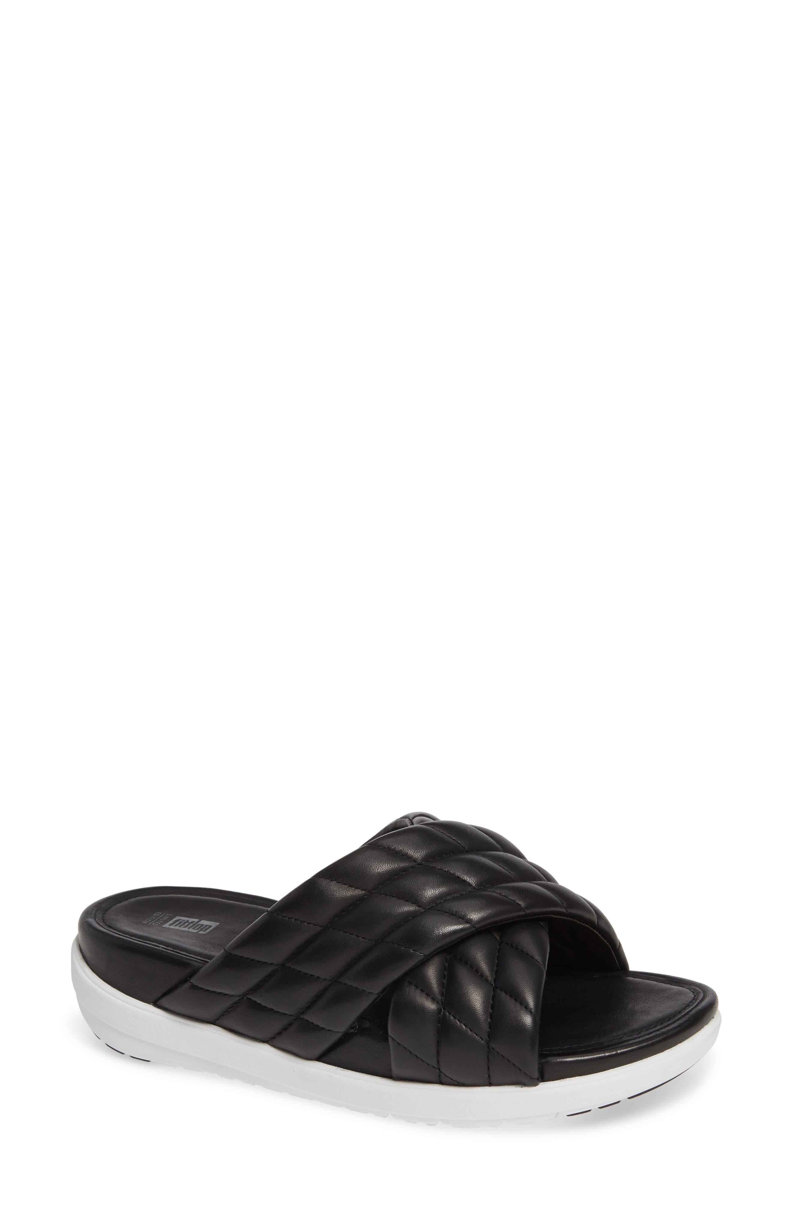 Fitflop Loosh Luxe Slide Sandal, Black