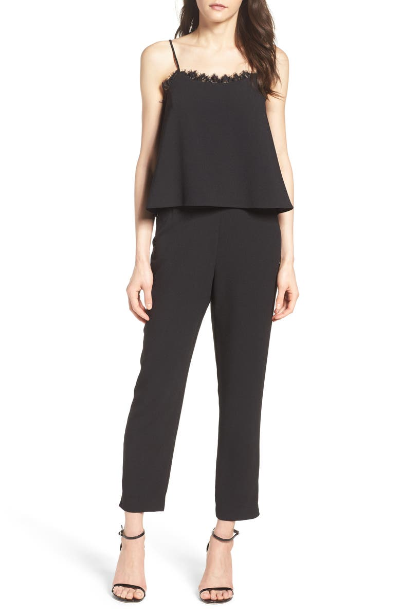 CHARLES HENRY Popover Jumpsuit, Main, color, 001