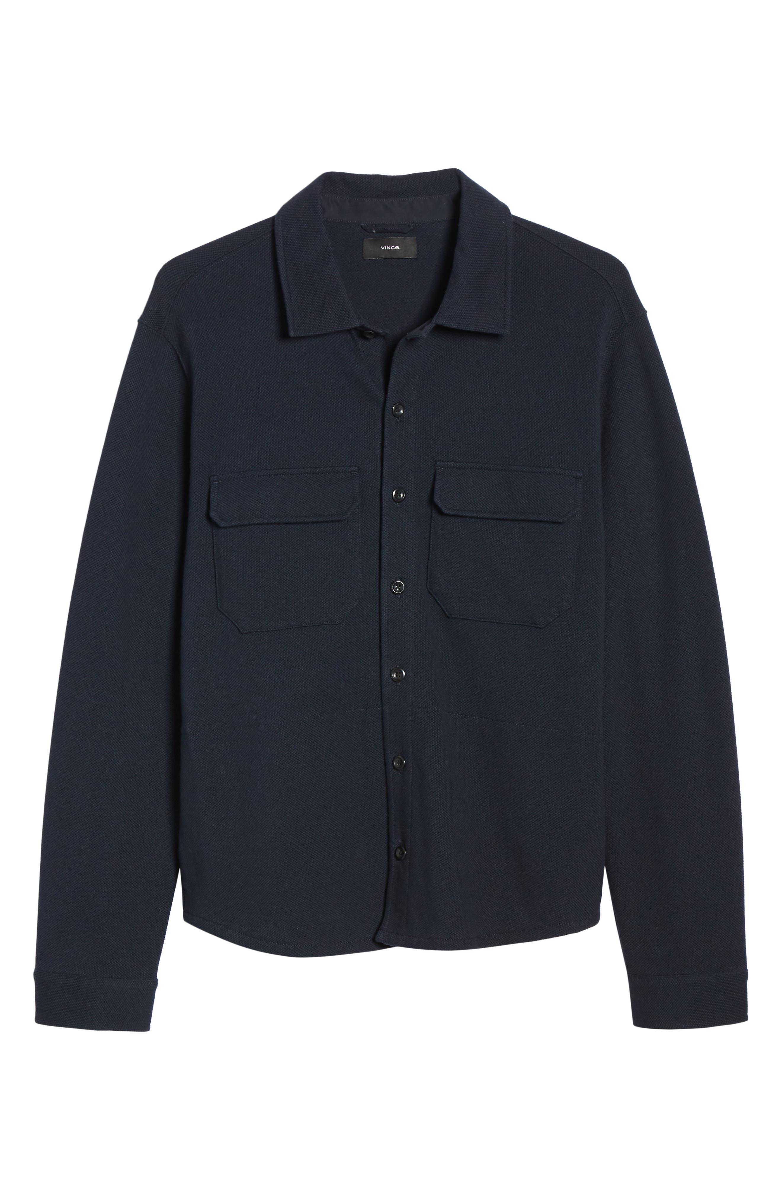,                             Slim Fit Shirt Jacket,                             Alternate thumbnail 7, color,                             COASTAL