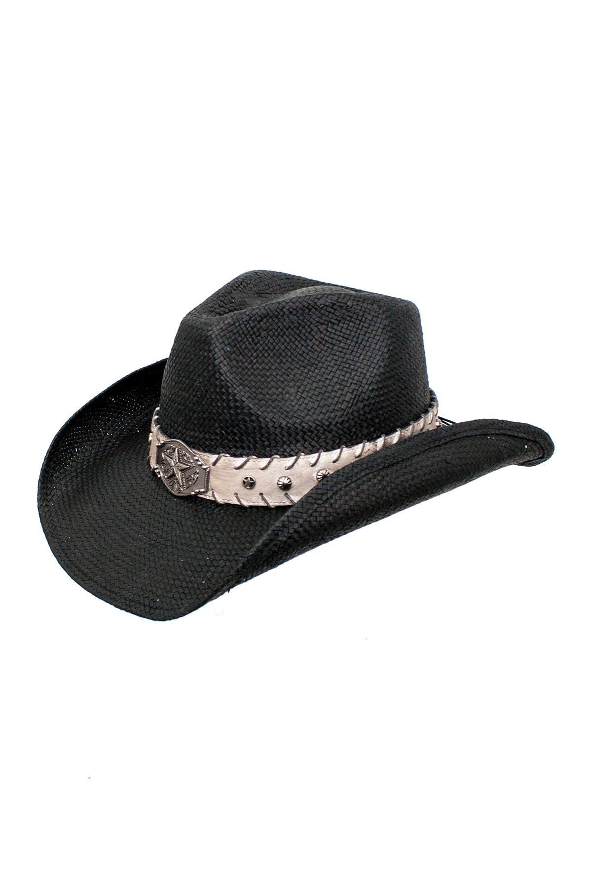 Image of Peter Grimm Headwear Wesley Banded Cowboy Hat
