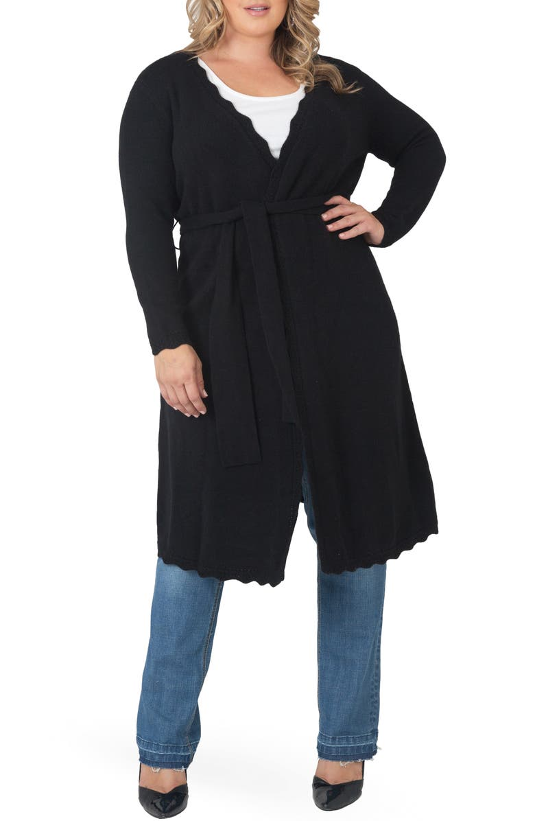 STANDARDS & PRACTICES Long Cashmere Cardigan, Main, color, BLACK