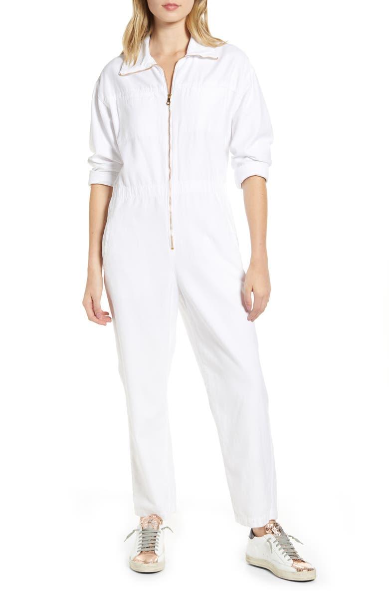 AG Controlla Cotton Boilersuit, Main, color, WHITE