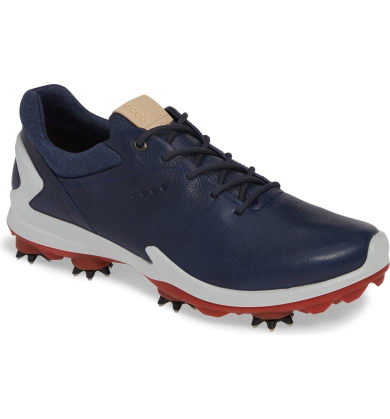 ECCO BIOM<sup>®</sup> G 3 Gore-Tex<sup>®</sup> Golf Shoe, Main, color, TRUE NAVY LEATHER