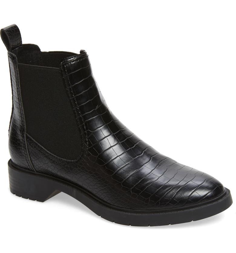 TREASURE & BOND Gabriella Chelsea Boot, Main, color, BLACK CROC